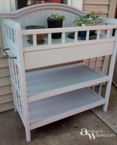 DIY ~ Repurposed Changing Table To Potting Bench ~ Ambient Wares
