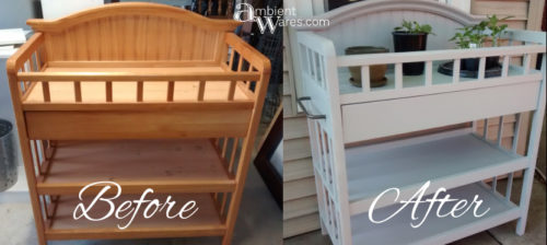 DIY ~ Repurposed Changing Table To Potting Bench ~Before & After ~ Ambient Wares