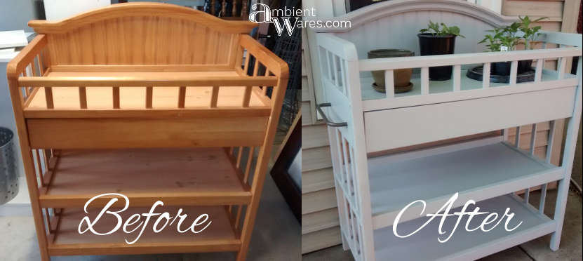 Diy Repurposed Changing Table To Potting Bench Before After