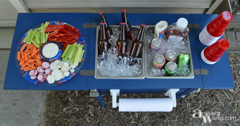 Antique Sewing Machine Table Repurposed Into Beverage Station Ambient Wares Ambient Wares