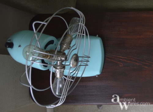 Refurbished Industrial Styled Mid Century Fan Turned Lamp Ambient Wares