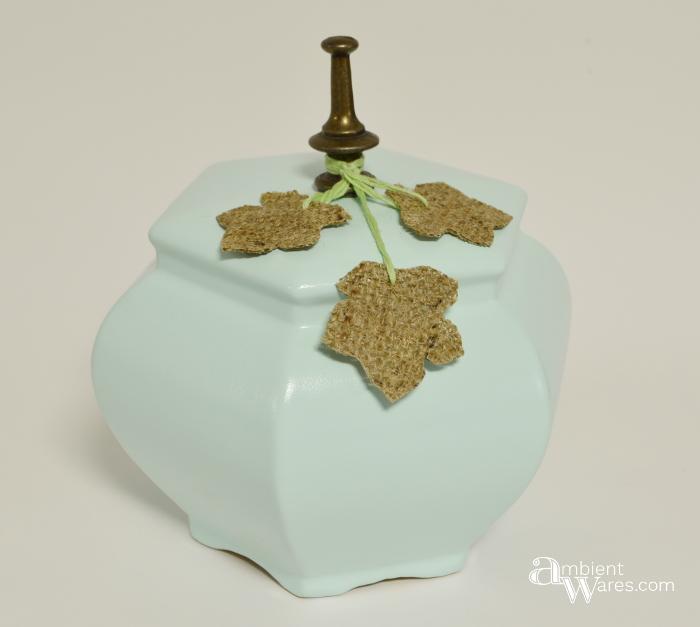 Lamp base repurposed as a faux pastel pumpkin