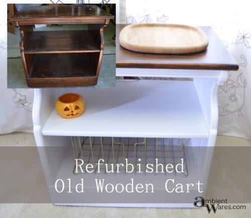 How I refurbished an old wooden TV Cart