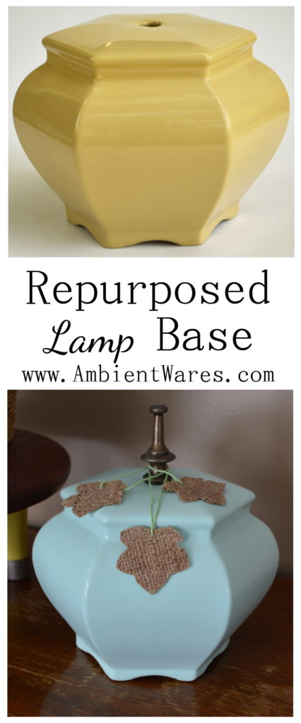 How to Easily Repurpose an Old Lamp Base into a Pumpkin. The perfect way to add a bit of non-traditional fall decor to your space! - For this and more unique ideas, visit AmbientWares.com