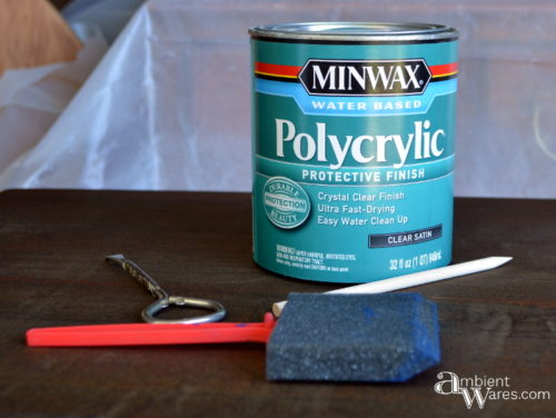 Sealing the stained top with Polycrilic by MINWAX by AmbientWares.com