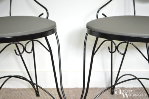 Newly recovered bistro chairs by AmbientWares.com