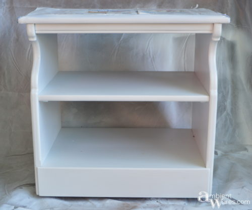Base with multiple coats of bright white latex paint by AmbientWares.com