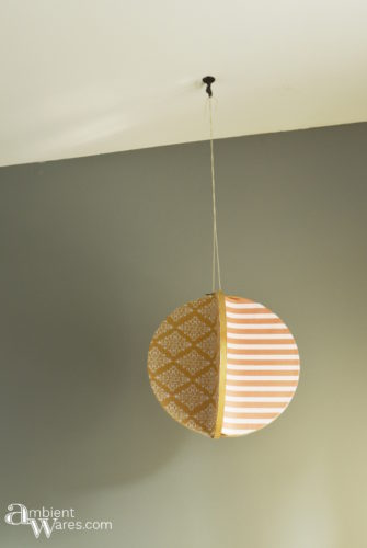 4 sided embroidery hoop mobile hanging by window