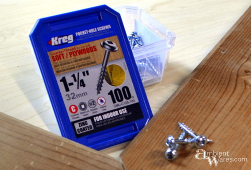 Kreg pocket hole screws for DIY frame