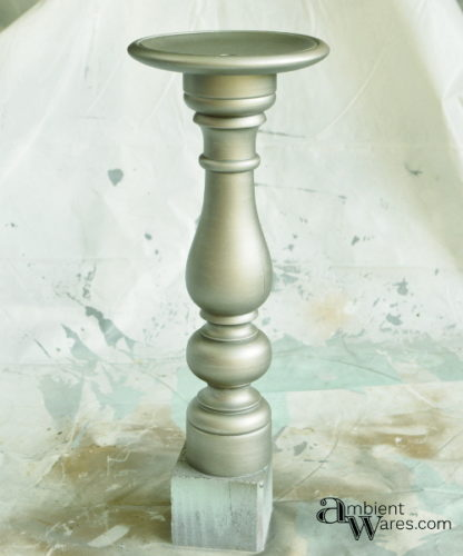 Easy to make DIY Wooden Pedestal from an Old Stand Up Table Lamp. For this and more unique ideas, visit AmbientWares.com