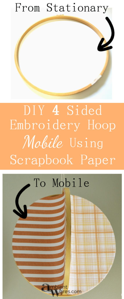 You have to try this DIY 4 sided mobile made from embroidery hoops!