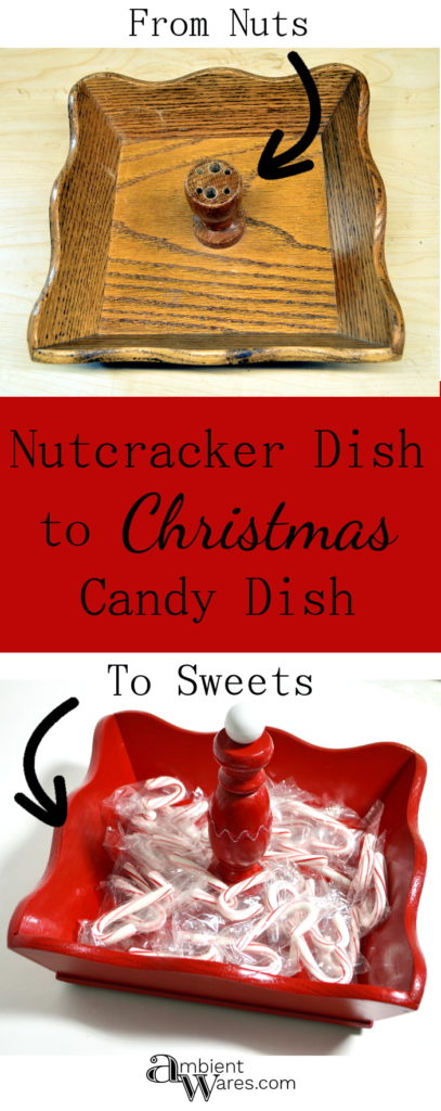 An old nutcracker utensil dish gets a sweet makeover!