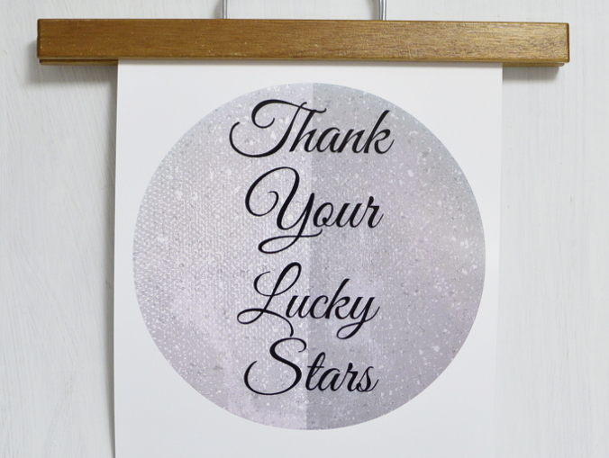 Free Printable Thank Your Lucky Stars