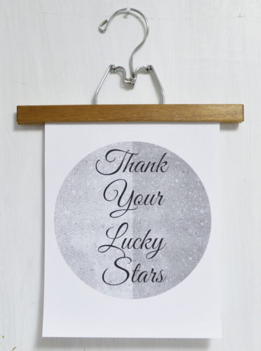 Thank Your Lucky Stars Free Printable Printed at home on black and white printer