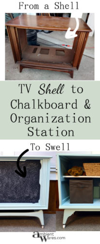 This DIY Hollow TV Shell turned Chalkboard & Organization Station is incredible!