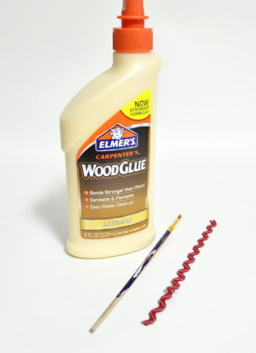 Using wood glue to attach fabric to wood