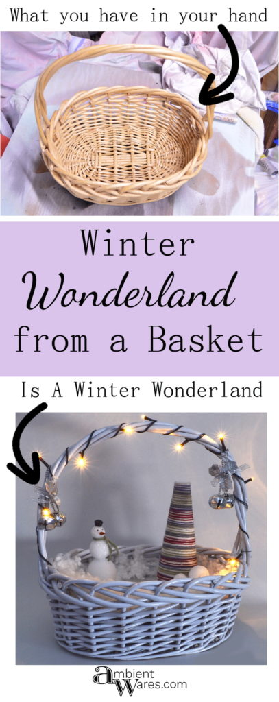 Another easy DIY! Create your own Winter Wonderland using a basket! ambientwares.com