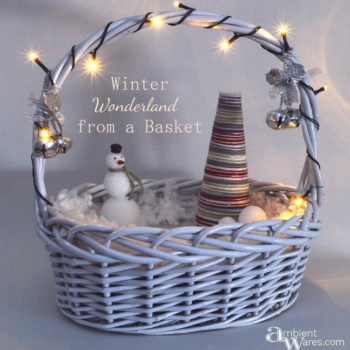 Let your creativity flow by making a simple Winter Wonderland from a basket ~ ambientwares.com