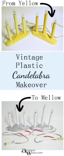 These vintage plastic candelabras just need a little love with some paint and a little try at DIY and they're good to go!