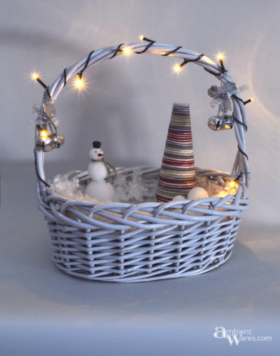 Simple Christmas Winter Wonderland from a basket ~ ambientwares.com