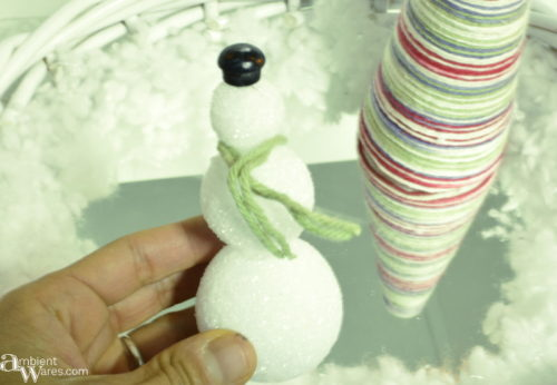 Snowman made for the Christmas Winter Wonderland Basket