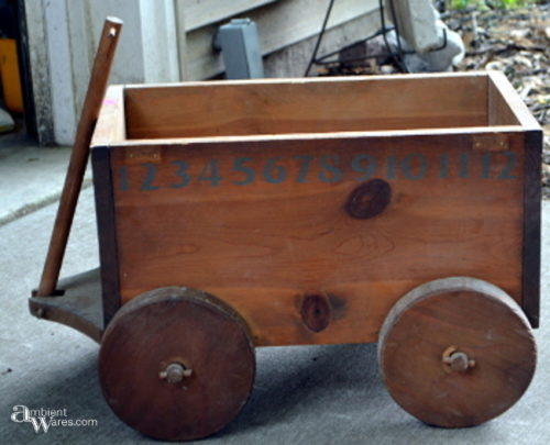 Wobbly wheeled pull wagon before making stationary
