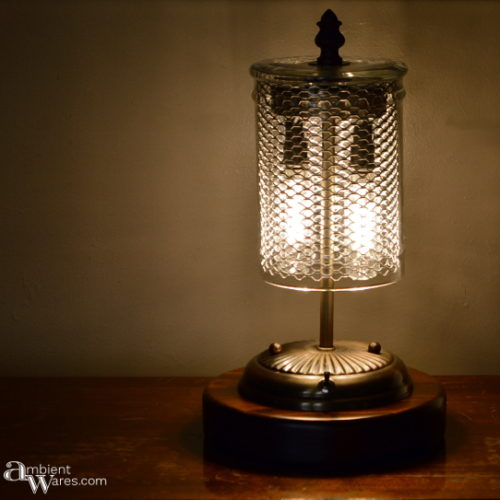 DIY Steampunk-esque Table Lamp