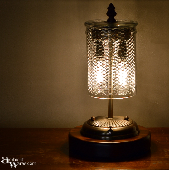 DIY Steampunk-esque Table Lamp . For this and more bright ideas, visit AmbientWares.com
