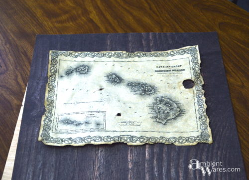 14 scrapbook paper backing for antiqued map