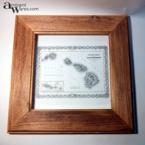 2 laser printed 1855 hawaiian map frame testing