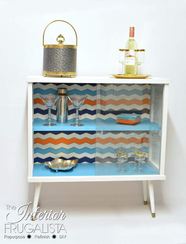 Repurposed MCM Cabinet into a Funky Bar