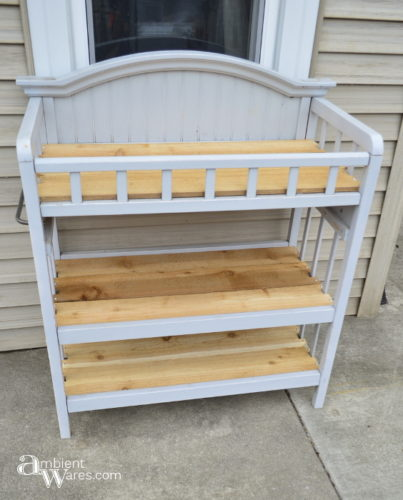 Finished Changing table to potting bench - ambientwares.com