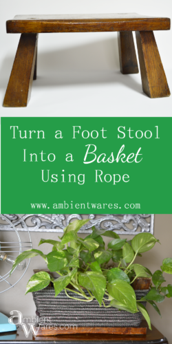 Who knew you could flip over a little foot stool and make it a basket?Who knew you could flip over a little foot stool and make it a basket?