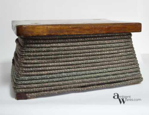 Repurposing a foot stool into a rope wrapped basket - Use Rope to Turn a Foot Stool into a Basket - ambientwares.com