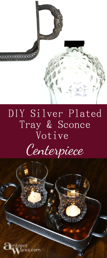 DIY Silver Plated Casserole Dish Tray & Sconce Votives Centerpiece - ambientwares.com