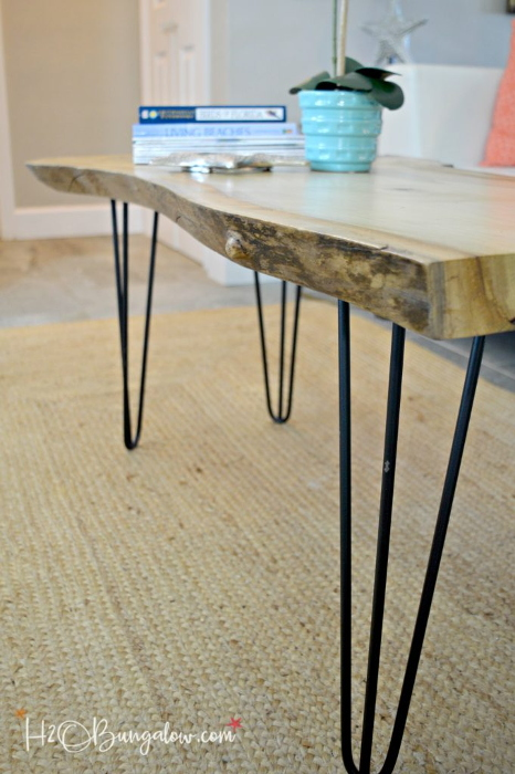 DIY Live Edge Coffee Table With Hairpin Legs