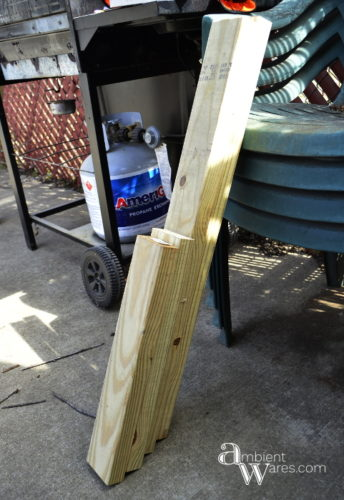 Wouldn't having a dolly make things so much easier? These 2x4s became just that. Visit AmbientWares.com for this and more great DIY and craft ideas!