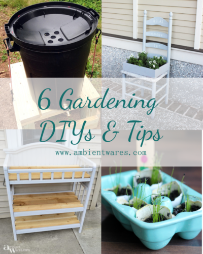 Need a few ideas for the garden this year? Here are 6 DIYs and tips to help you get your garden ready and growing!