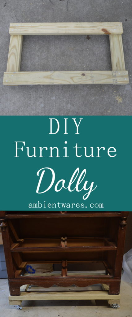 Super Easy to Make Furniture Dolly on Casters! Visit AmbientWares.com for this and more great DIY and craft ideas!