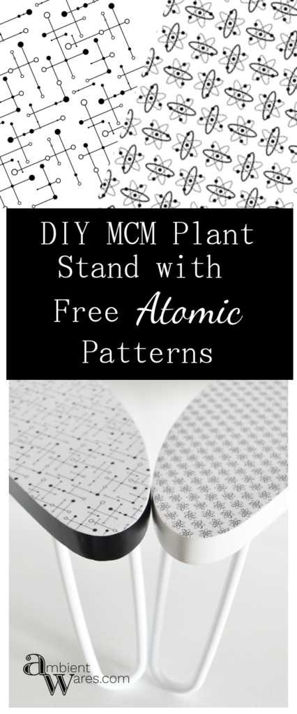 These mid-century modern themed plant stands are the cutest! Free patterns are even included!These mid-century modern themed plant stands are the cutest! Free patterns are even included!