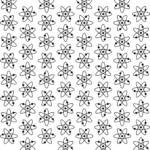 Mid Century Modern Atomic Pattern Sample