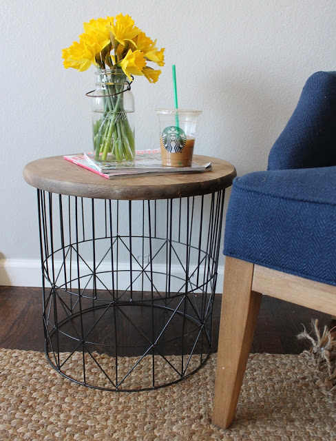 Laundry Basket Side Table
