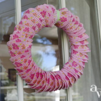 This Unique And Beautiful DIY Wreath Using Cupcake Liners Is The Perfect Door Decor ambientwares.com