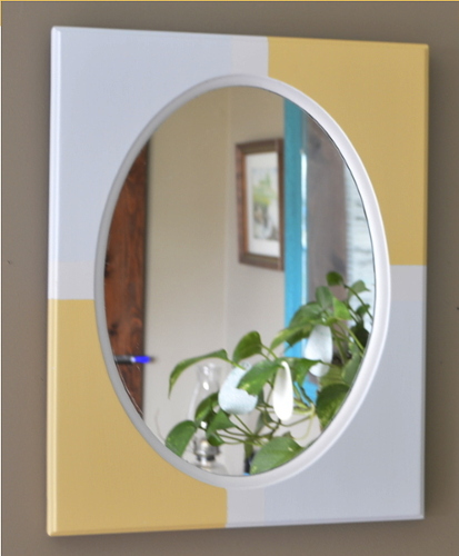 Couldn't get any easier than a wooden framed mirror updated with paint! ambientwares.com feature