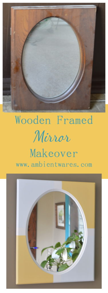 Couldn't get any easier than a wooden framed mirror updated with paint! ambientwares.com