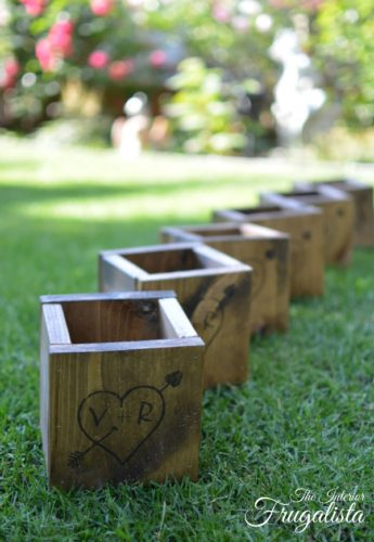 Diy rustic wedding centerpiece boxes 5 decor ideas using baskets diy wooden centerpiece boxes 600 junglespirit Gallery