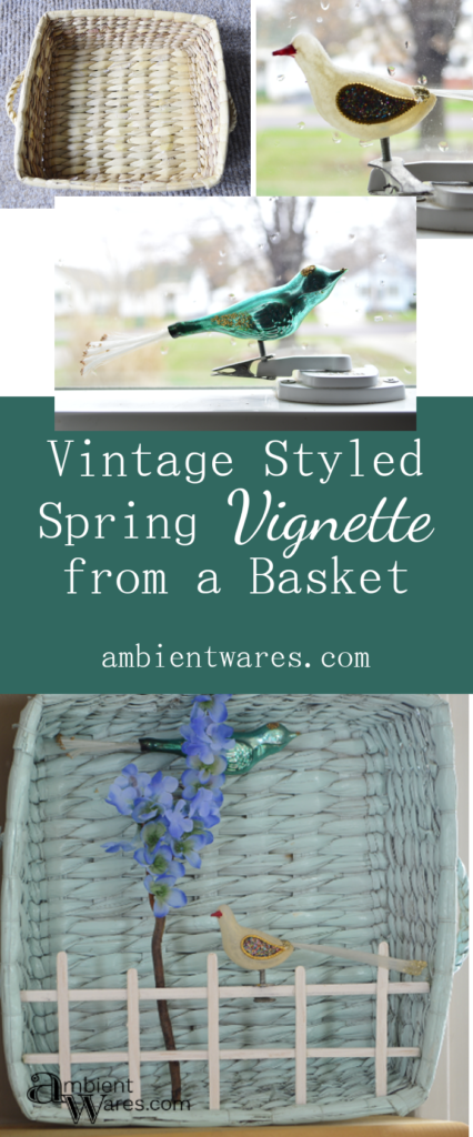 Such an easy way to bring a little Spring into your home with a basket and a few other craft supplies. ambientwares.com