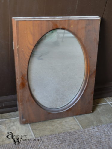 This_framed_mirror_is_going_to_get_a_simple_makeover_in_pretty_pastels_Easy_DIY_Painted_Wooden_Framed_Mirror_ambientwares.com