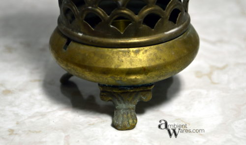 Tarnished Brass Candle Holder