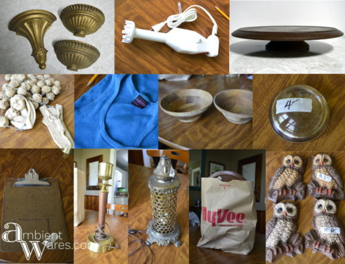 Junk_Found_Rummage_Sale_Finds_and_A_Quick_Refurbished_Vintage_Owl_Wall_Hanging_Project - ambientwares.com